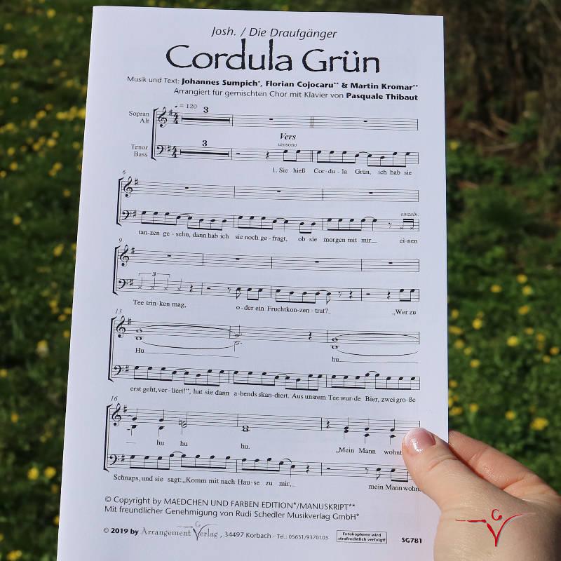 Chornoten: Cordula Grün (vierstimmig)