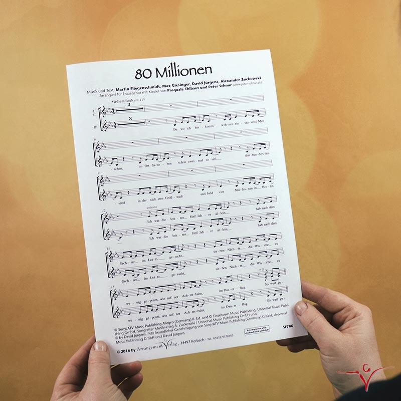 Chornoten: 80 Millionen (vierstimmig)