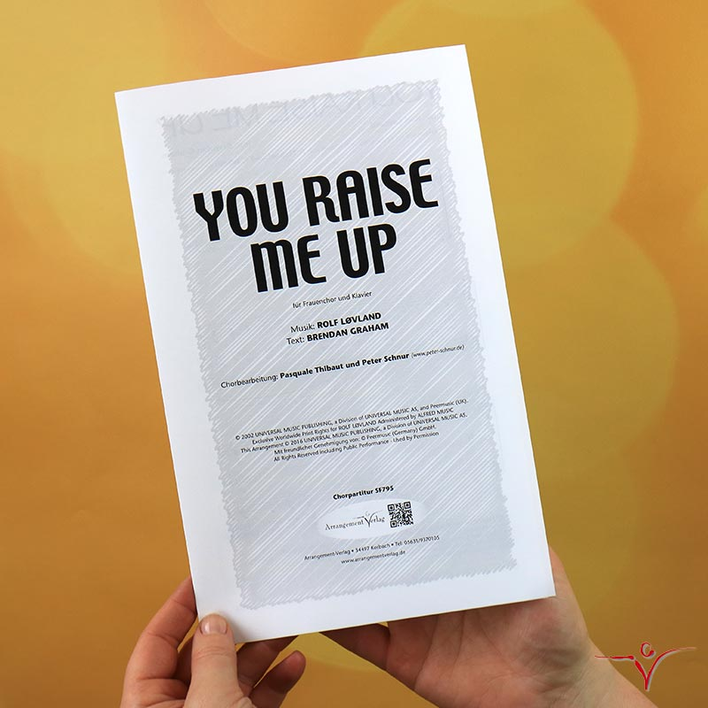 Chornoten: You raise me up (vierstimmig)