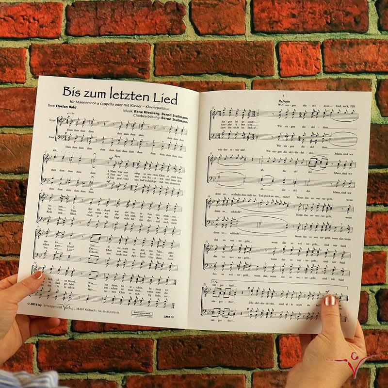 Chornoten: Bis zum letzten Lied (vierstimmig)