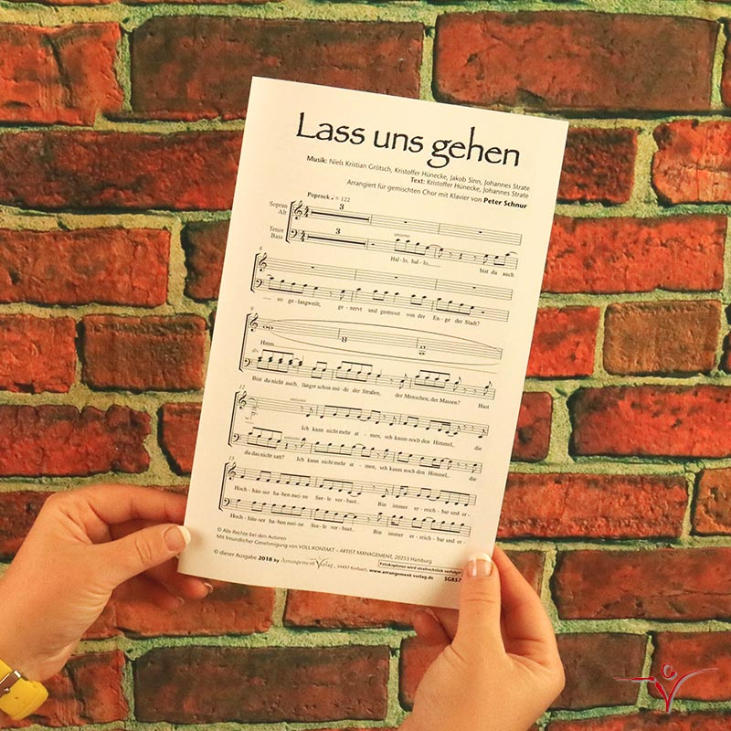 Chornoten: Lass uns gehen (vierstimmig)