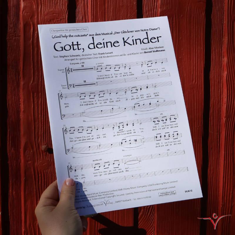Chornoten: Gott, deine Kinder / God help the outcasts (vierstimmig)