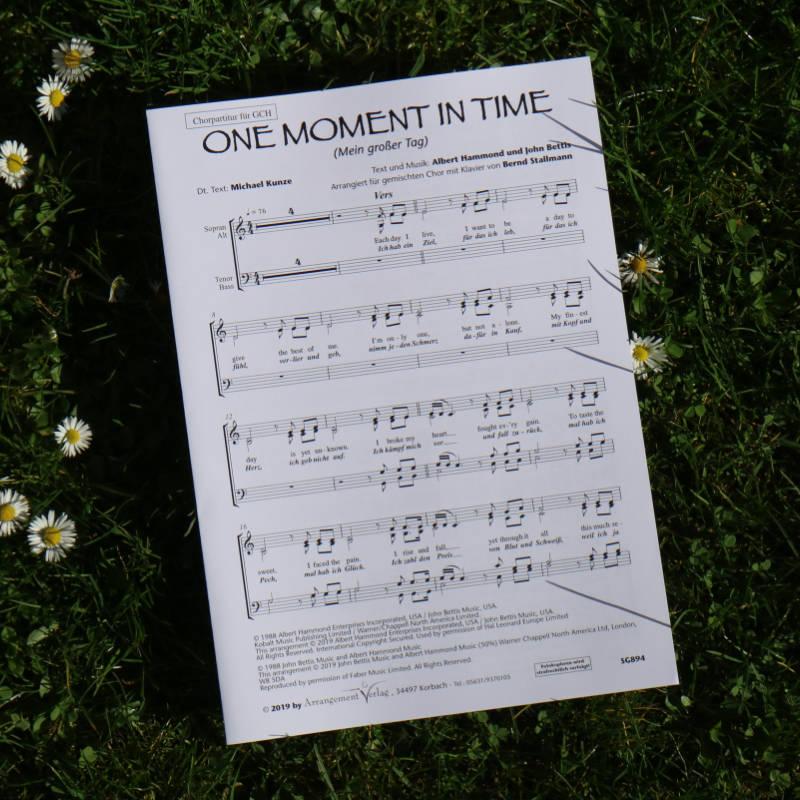 Chornoten: One moment in time / Mein großer Tag (vierstimmig)
