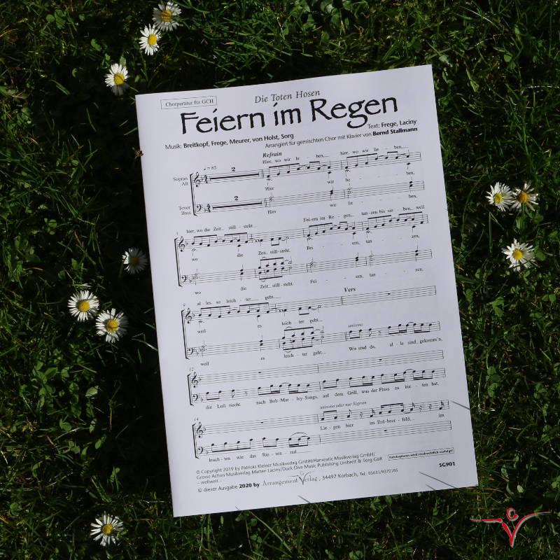 Chornoten: Feiern im Regen (vierstimmig)