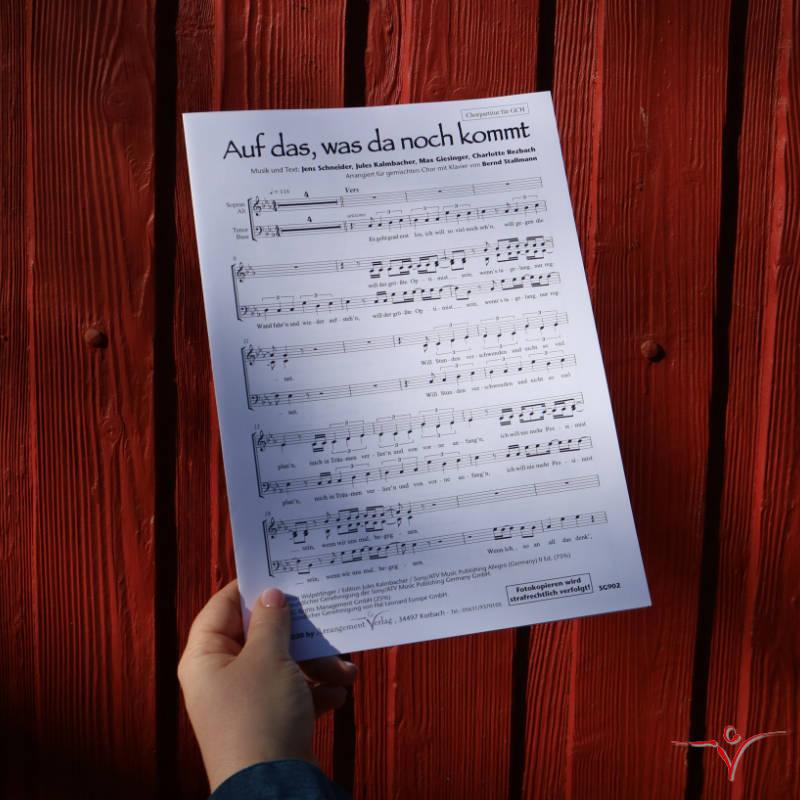 Chornoten: Auf das, was da noch kommt (vierstimmig)